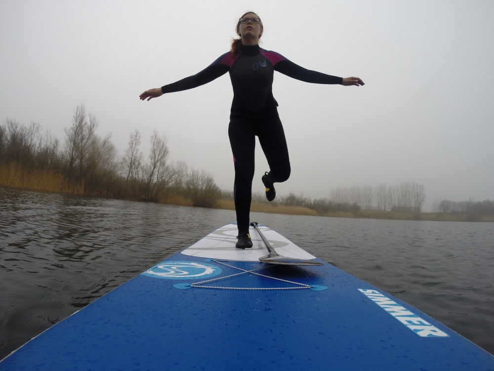 Stand Up Paddling hjärta Yoga